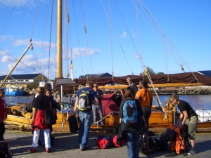 leaving to the Oslofjord...