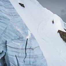 Climbing Fletschhorn North Face while filming for Shades of Winter 2, Photographer: Sebastian Marko