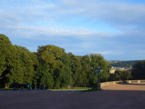 view from the Royal Palace to Oslo...