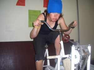 stupid pic but look @ the stationary bike - maybe from the 70's??...