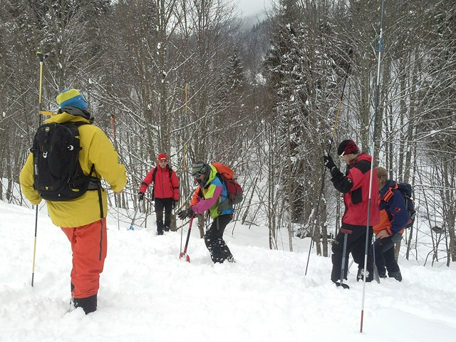 Beacon search... Avalanche training...