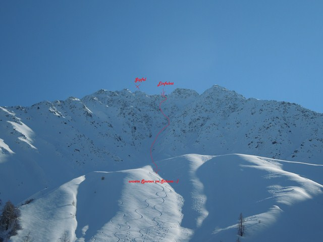 the Northwest face of the Rosskogel...