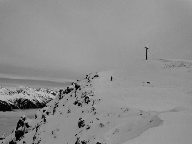 ...am Weg zum Gipfel...