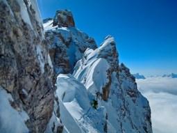 Michi climbing the ridge...