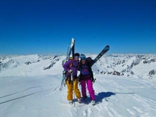 Liz and Mel on top of Brochkogel...
