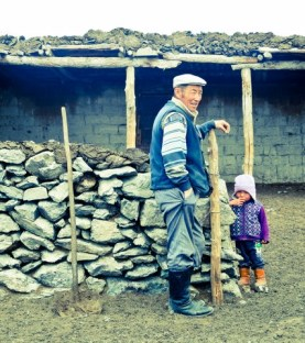 visiting a Kazakh family...