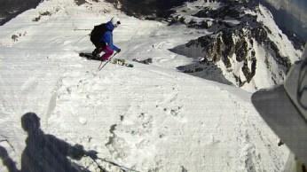 first flat turn before it got steep...