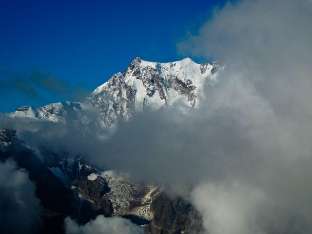 Signalkuppe (4554m), Dufourspitze (4634m) und Nordend (4609m)