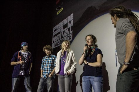 """presenting our film """"Camels are never cold"""" on stage... mit Flo Orley, Michi Mayerhofer, Liz Kristoferitsch, Mel und Harry Putz"""