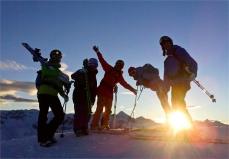 Sonnenuntergangsstimmung... Tine, Mel, Eva, Andrea, Hauni