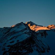 die Wildspitze im Sonnenlicht...