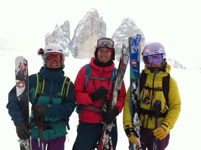 am Ziel - die 3 Zinnen - mit Ingrid, Pia, Mel, Olli & Jens