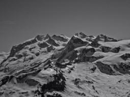 Cervinia Skigebiet und Monte Rosa Bergkette inkl. Dufourspitze