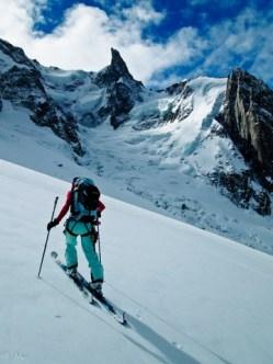 Aufstieg über Périades Gletscher...