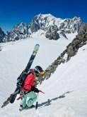 Liz, im Hintergrund der Mont Blanc