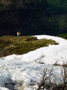 Schneefahrbahn war nicht geplant...