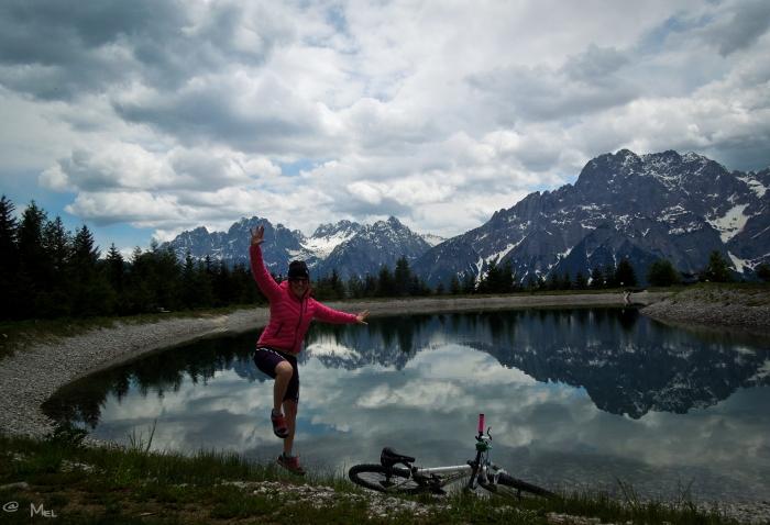 Selfie vor den Lienzer Dolomiten...