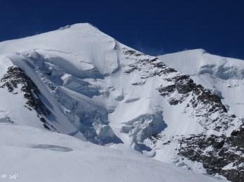 Die Nordwand des Piz Palü. Eine Steilwandabfahrt wo die Verhältnisse perfekt sein müssen.