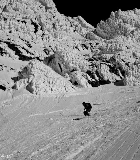 pretty good skiing down