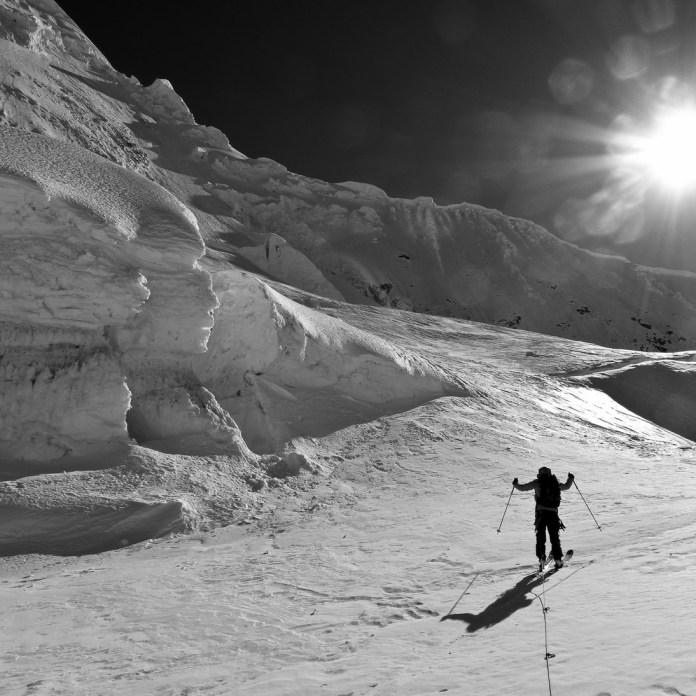 bevor es dann wieder auf Skiern und am Seil weitergeht...
