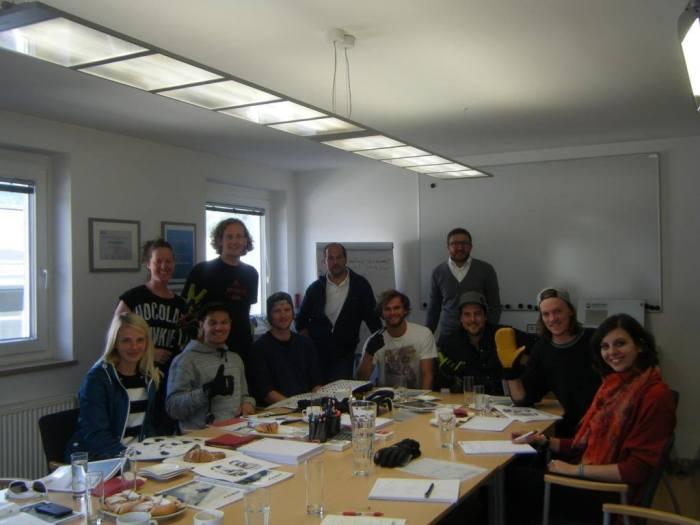 Vicky Veider, Mel, die Freeski-Crew Jungs, Matthias Hauni Haunholder, Gottfried Tönig, Markus Zanier