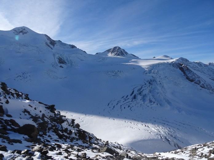 Blick Richtung Wildspitze, rechts Brochkogel...