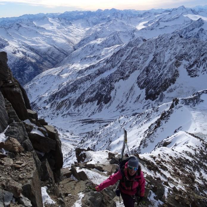 Die letzten Meter bis zum Gipfel...